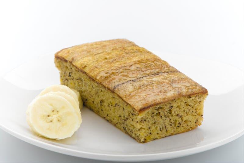 De cake van de banaan stock foto's