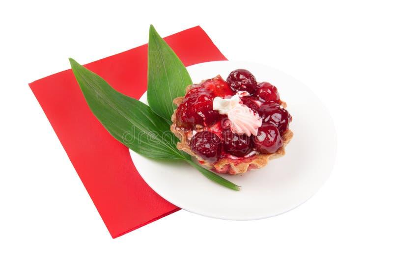 De cake van de bes met gelei royalty-vrije stock foto