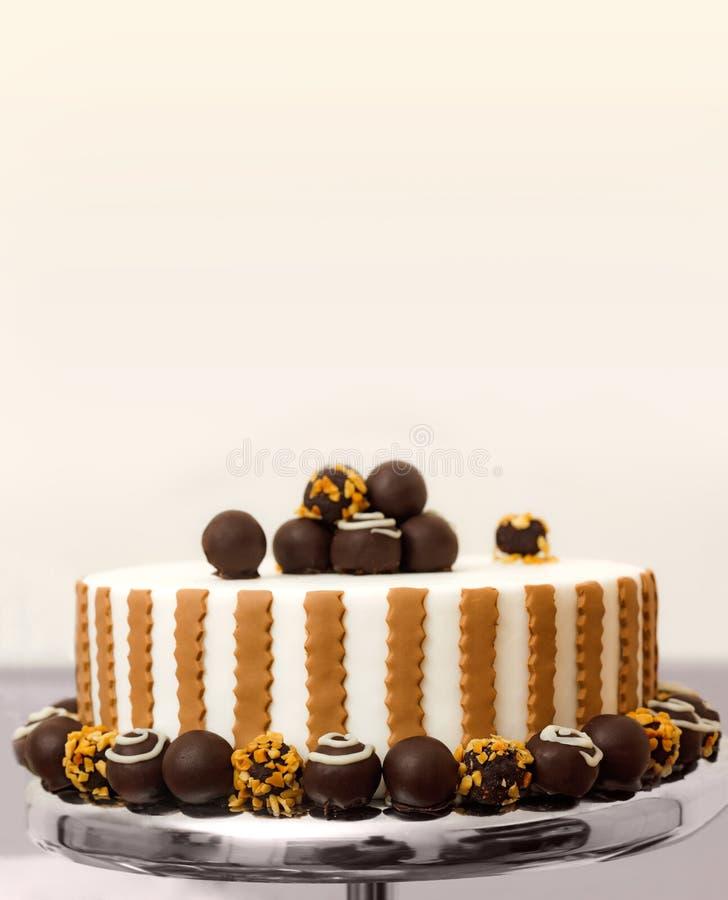 De cake van de bonbon stock afbeelding