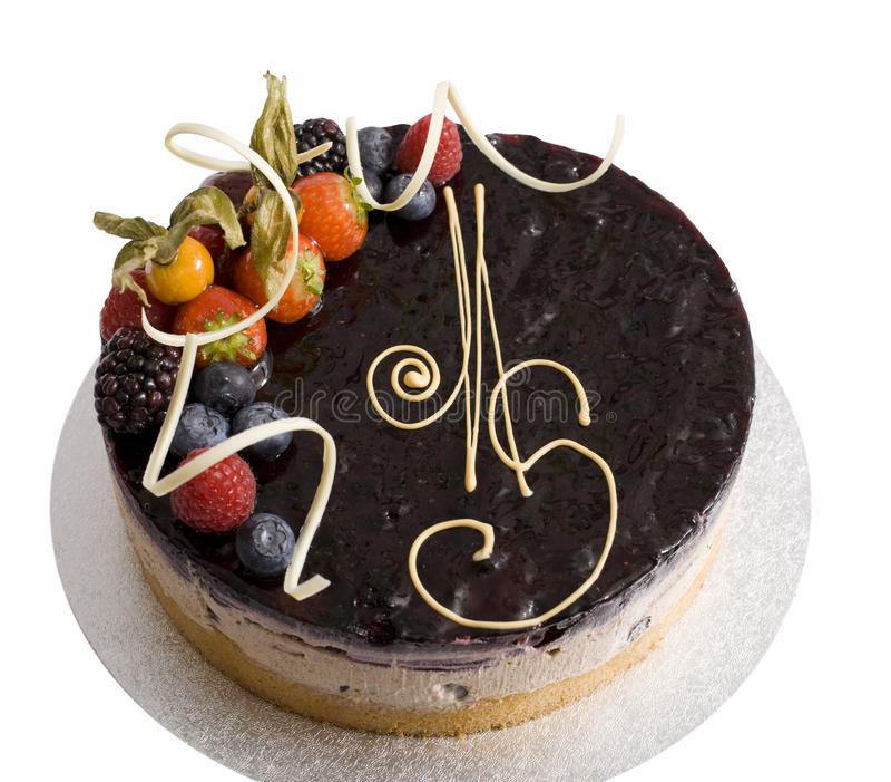 De Cake van de bosbes & van de Kaneel stock foto