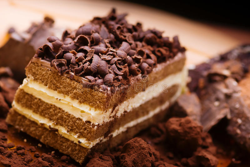 De cake van de chocolade royalty-vrije stock fotografie