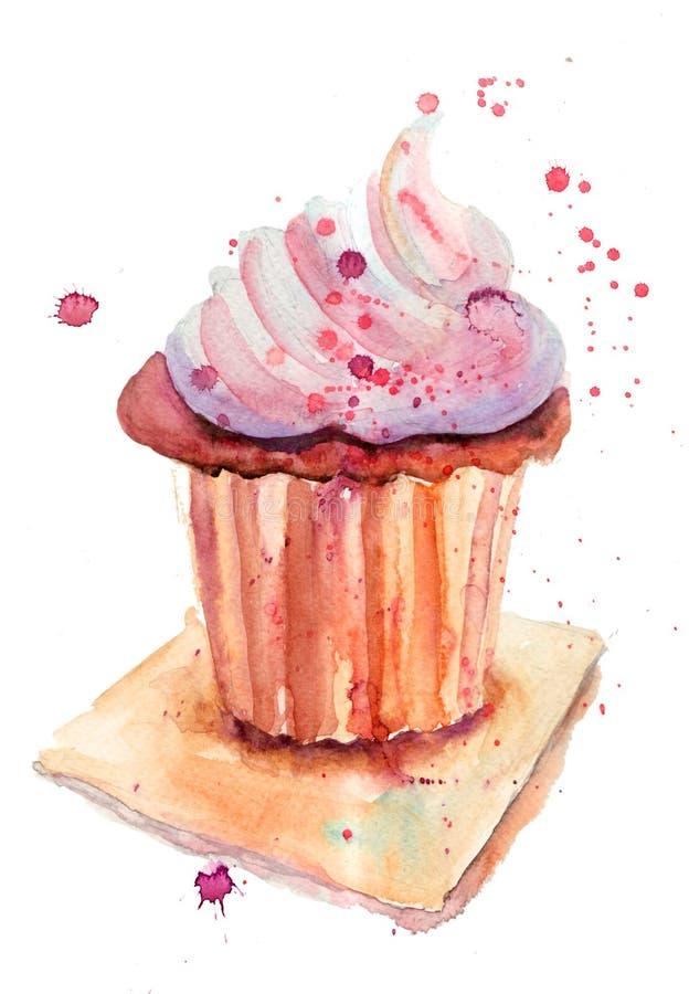 De cake van de chocolade stock illustratie