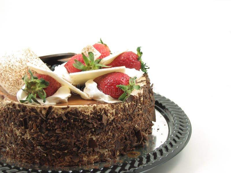 De cake van de chocolade stock foto's