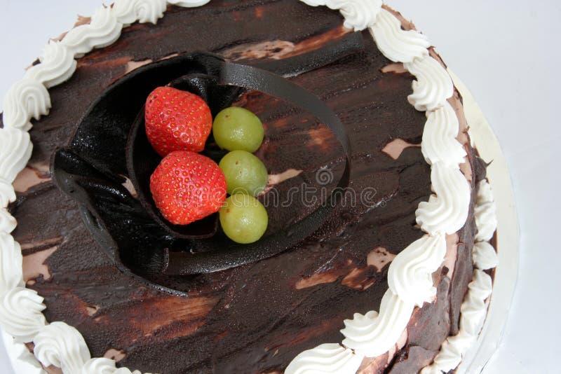 De cake van de chocolade sacher stock fotografie
