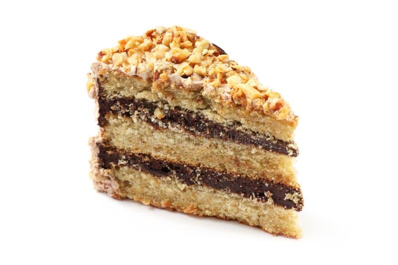 De Cake van de Chocolade van de amandel stock fotografie