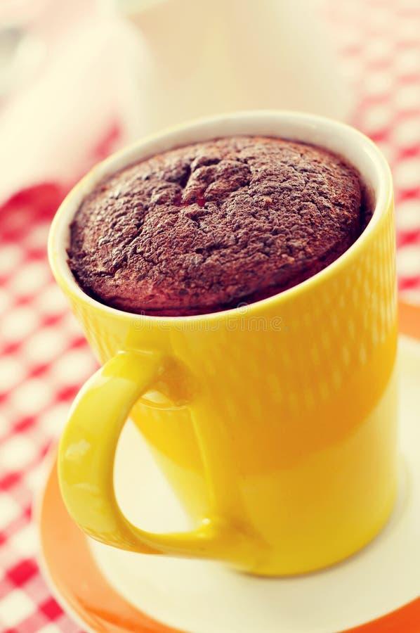 De cake van de chocolademok stock foto's