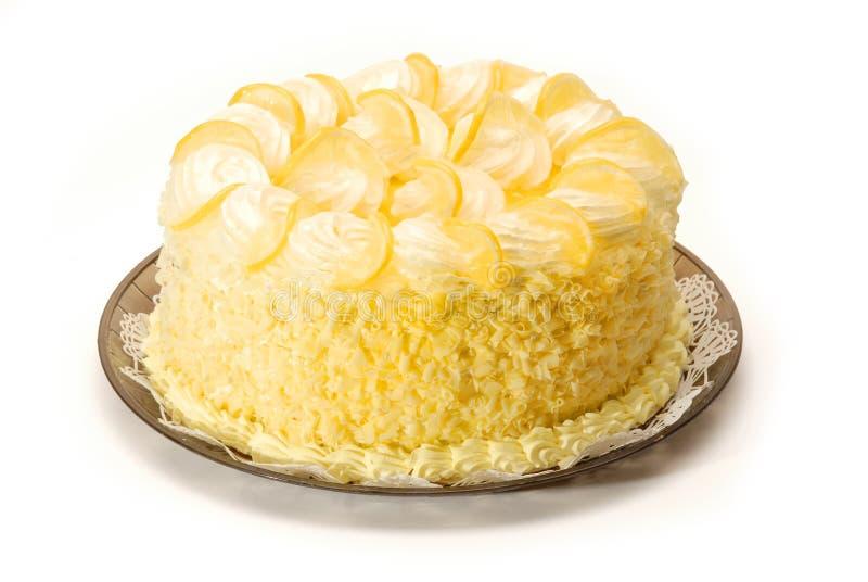 De Cake van de citroen stock fotografie