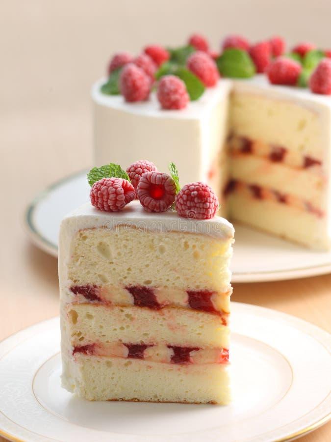 De cake van de framboos royalty-vrije stock afbeelding