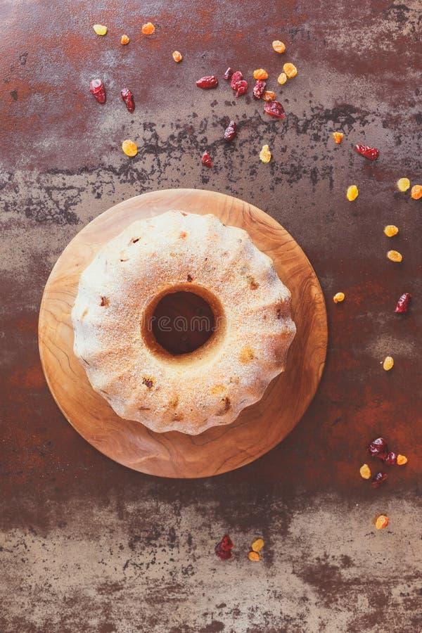 De cake van de fruitring stock foto's