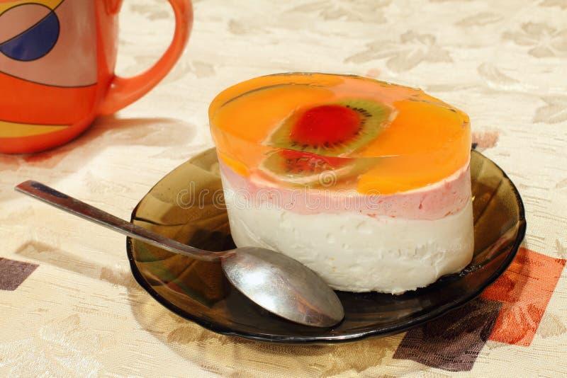 De cake van de gelei royalty-vrije stock afbeelding