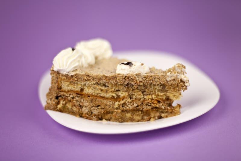 De cake van de hazelnoot stock fotografie