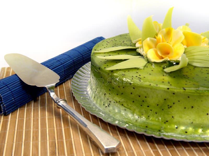De cake van de kiwi royalty-vrije stock afbeelding