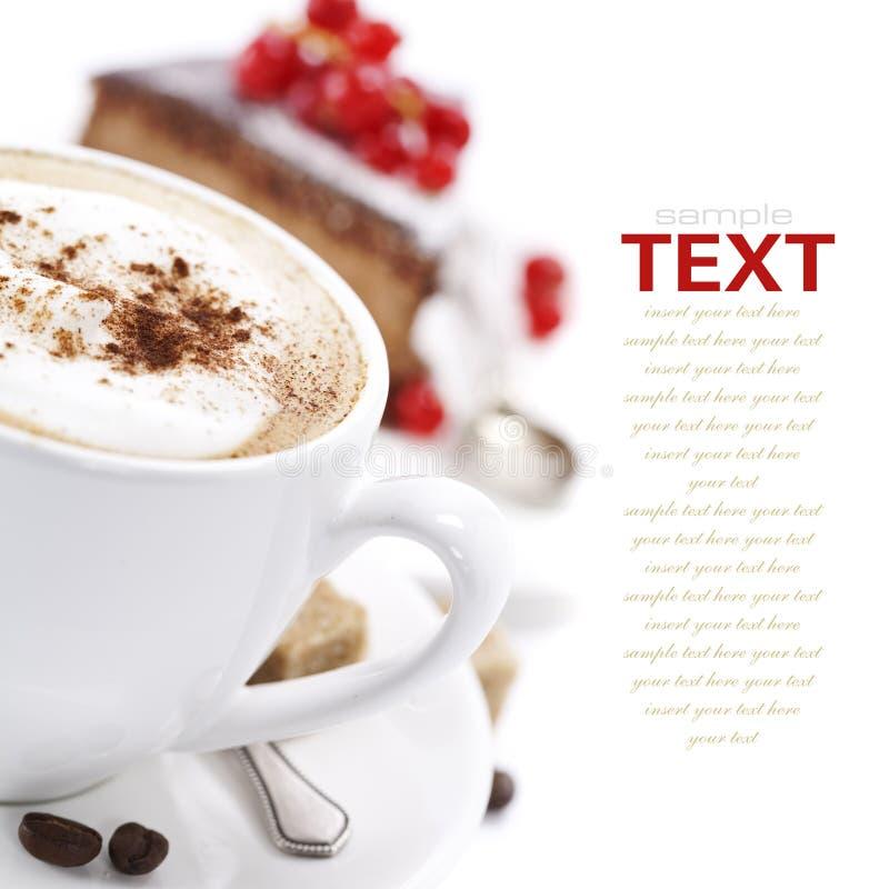 De cake van de koffie en van de chocolade stock afbeelding