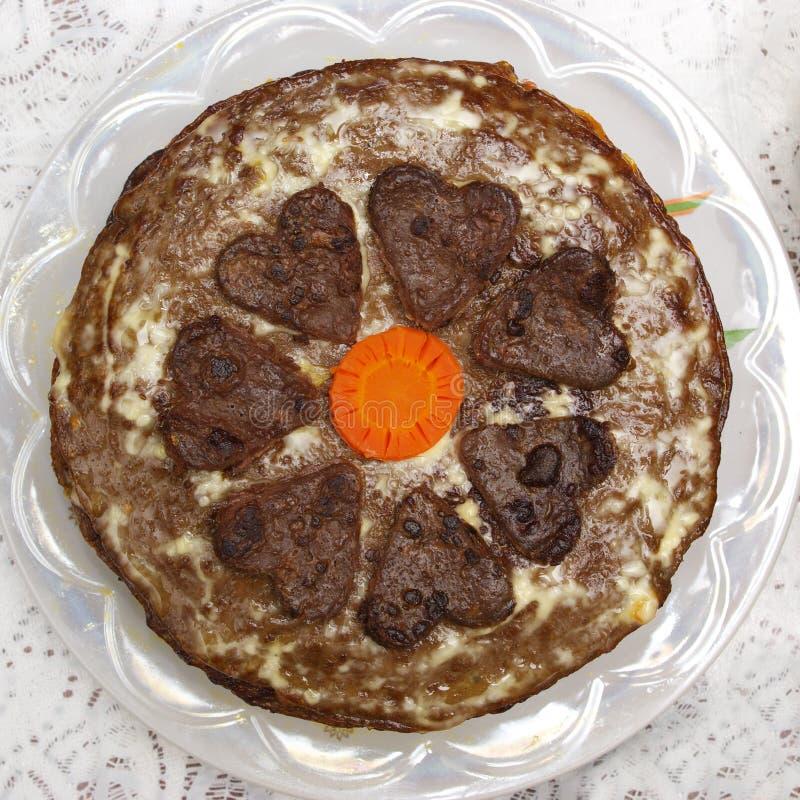 De cake van de lever stock foto's