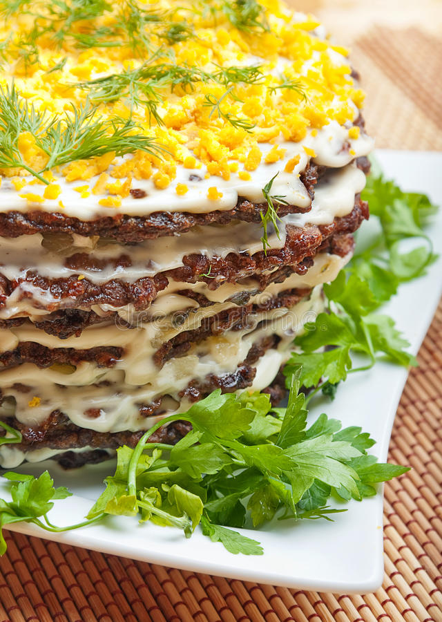 De cake van de lever stock afbeeldingen