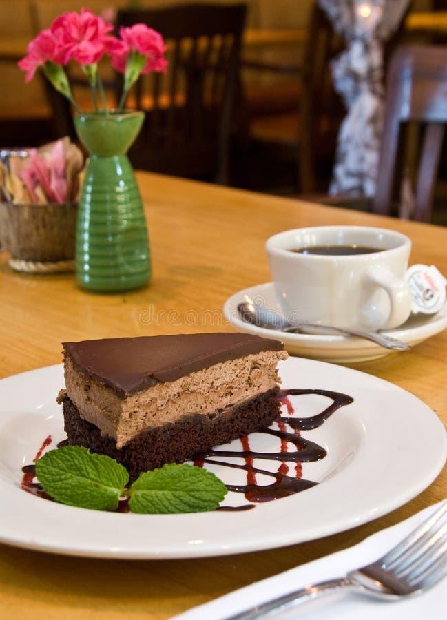 De cake van de mochamousse van de chocolade stock afbeelding