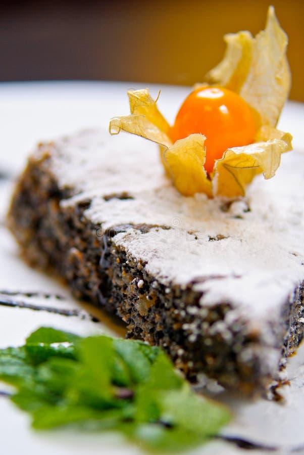De Cake van de papaver royalty-vrije stock foto