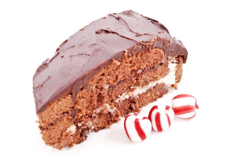 De Cake van de Pepermunt van de chocolade royalty-vrije stock foto