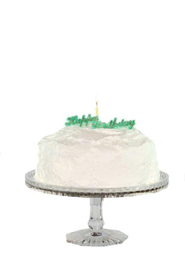 De cake van de verjaardag. stock afbeelding