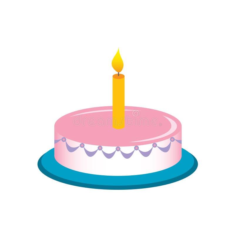 De cake van de verjaardag royalty-vrije illustratie