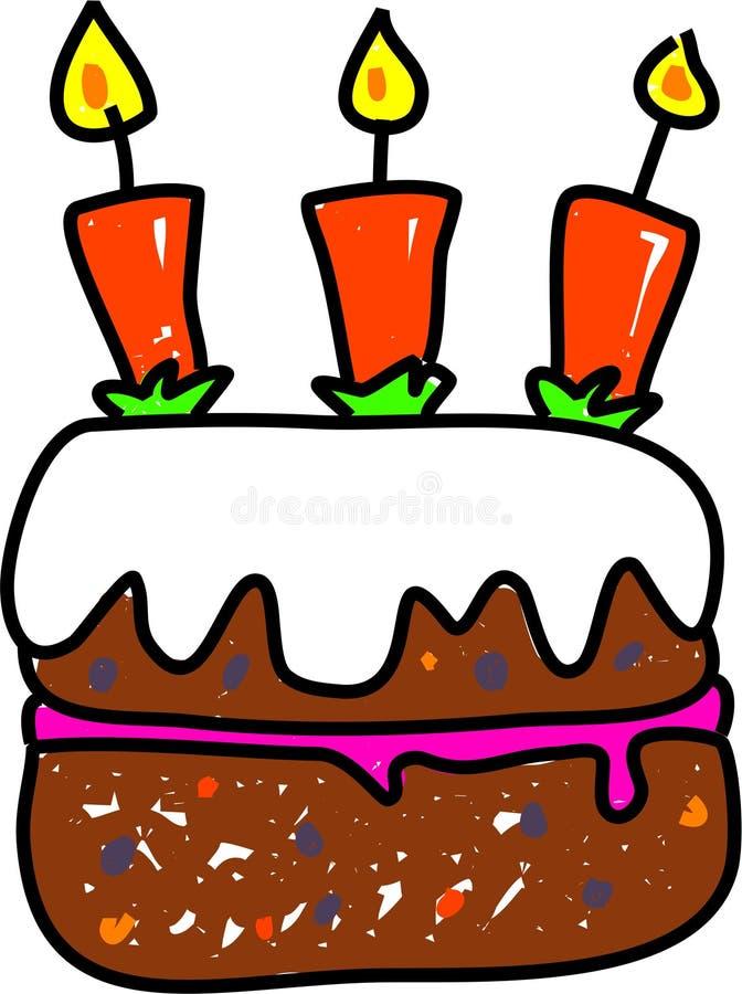 De cake van de verjaardag stock illustratie