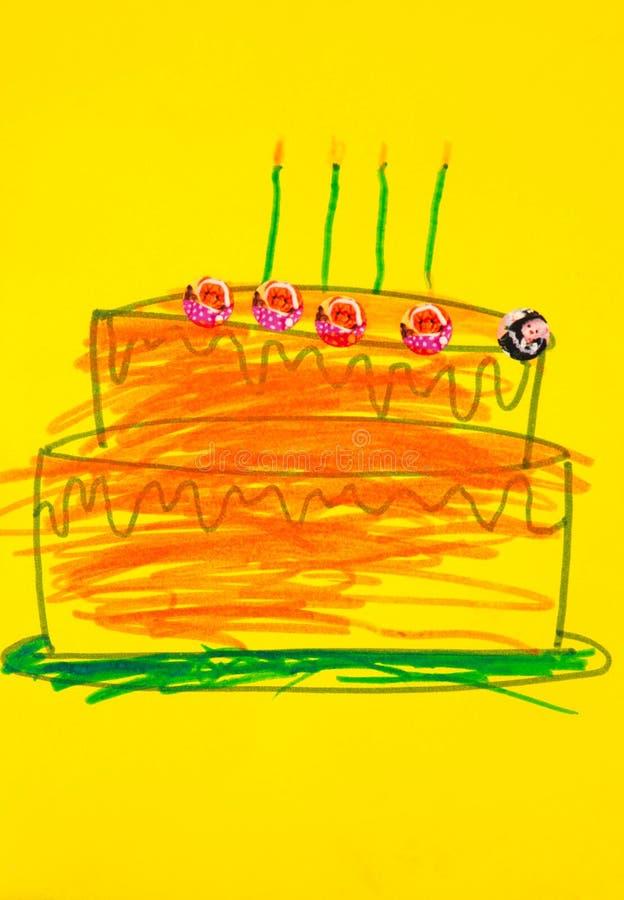De cake van de verjaardag vector illustratie