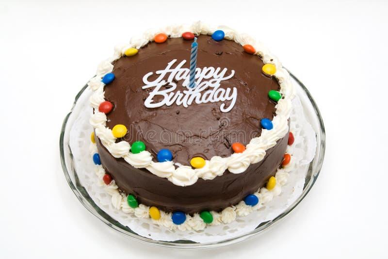 De Cake van de Verjaardag van de chocolade stock afbeelding