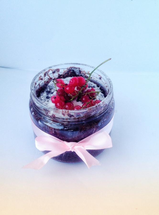 De cake van de framboos royalty-vrije stock foto