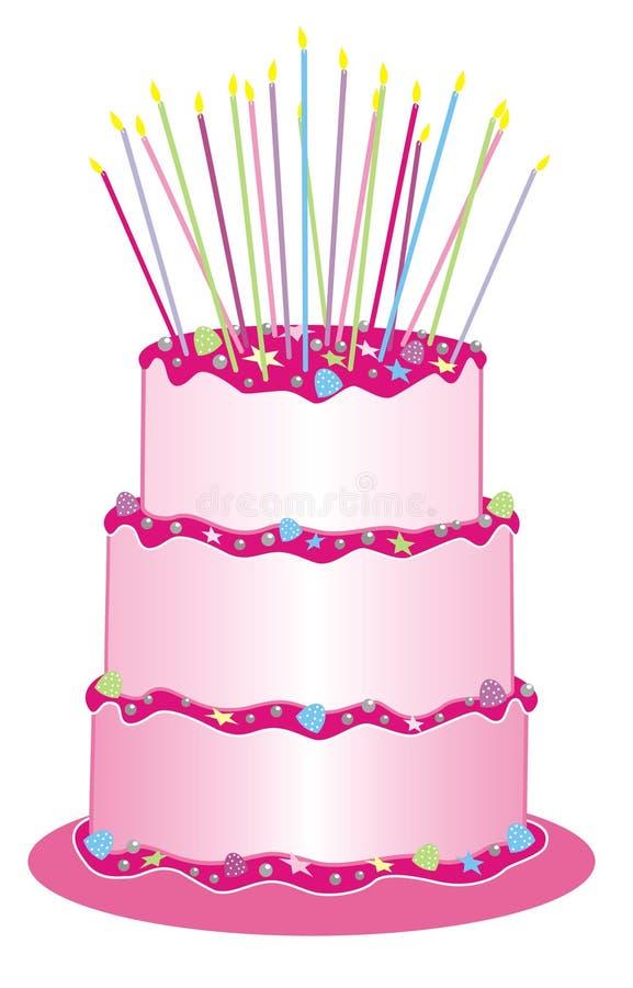 De cake van Girlie stock illustratie