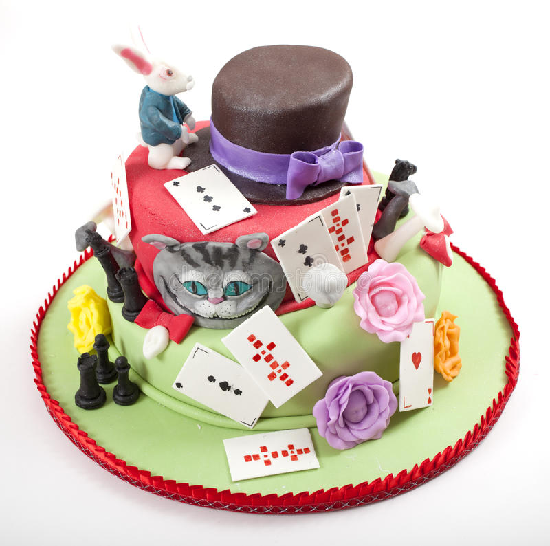 De Cake van het beeldverhaal royalty-vrije stock afbeelding