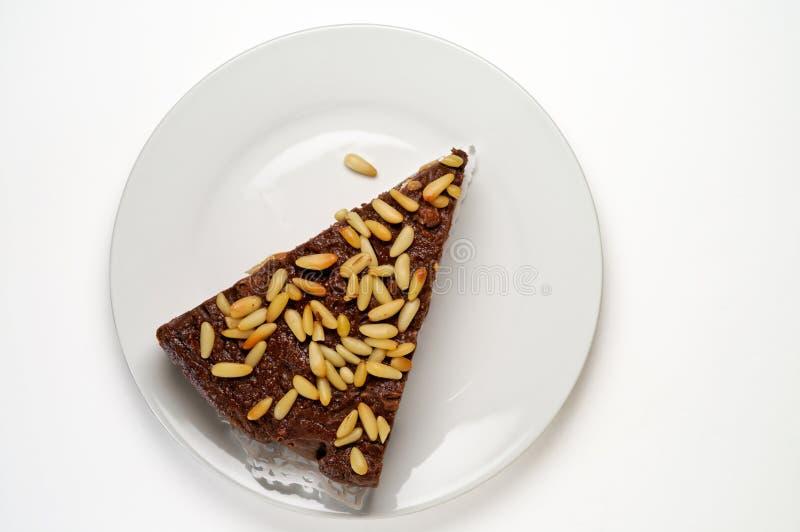 De cake van het brood van hierboven geïsoleerd royalty-vrije stock foto