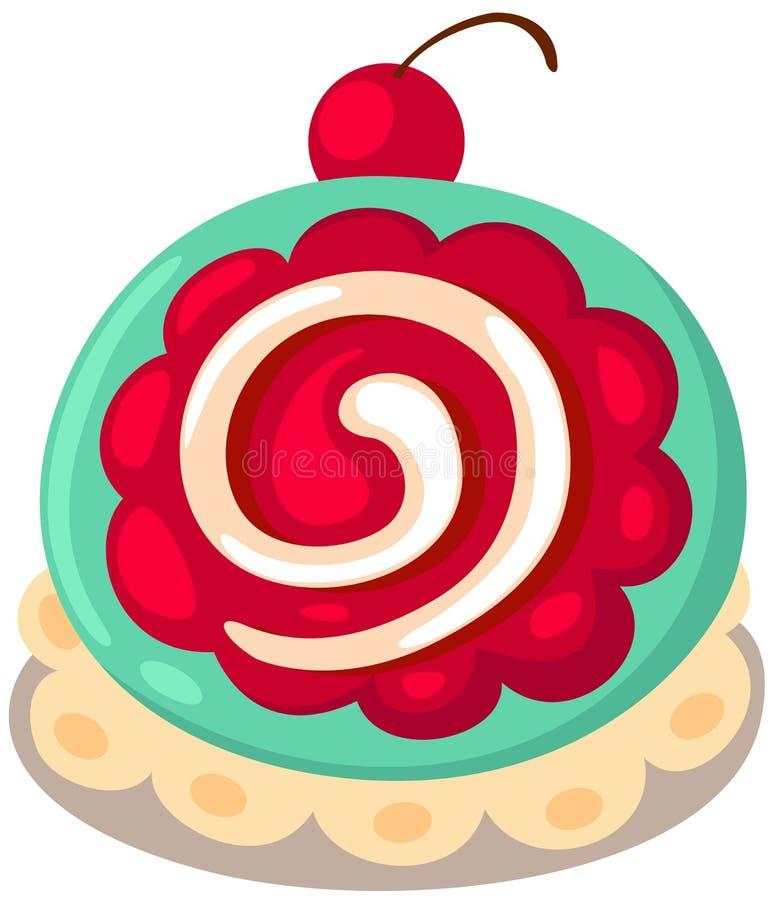De cake van het broodje stock illustratie