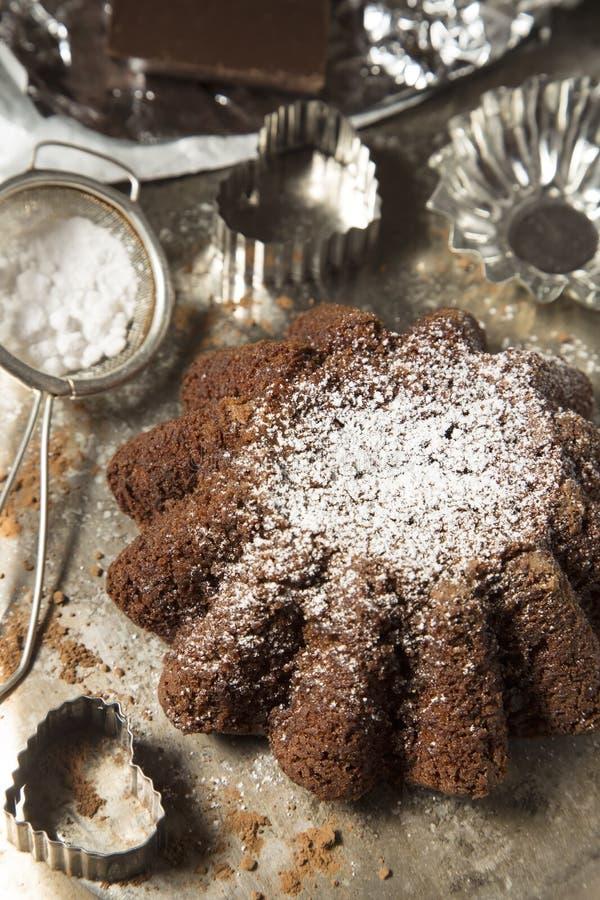 De cake van het chocoladepond royalty-vrije stock fotografie