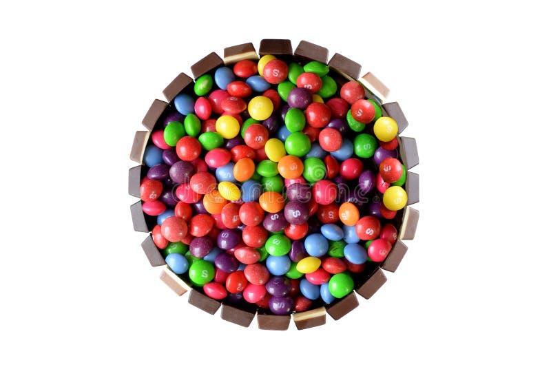 De cake van het chocoladesuikergoed stock foto's