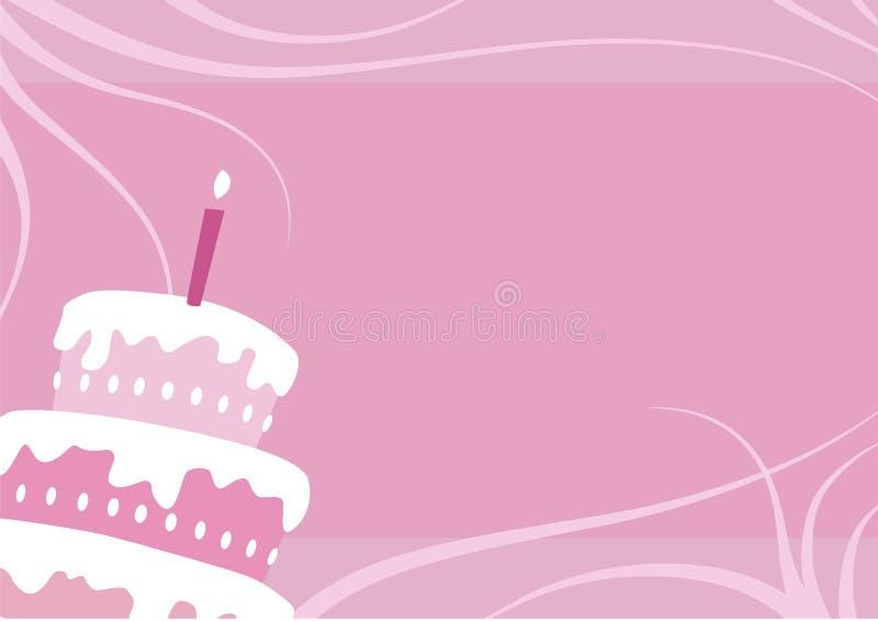 De cake van het feestvarken royalty-vrije illustratie