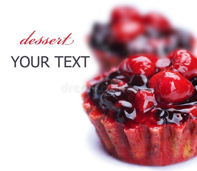 De Cake van het fruit royalty-vrije stock afbeelding