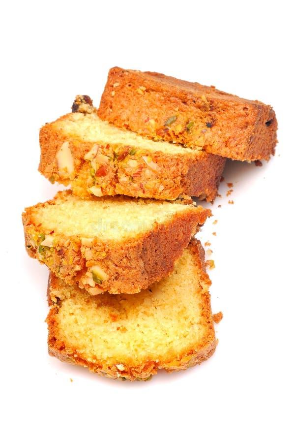 De cake van het fruit stock foto's