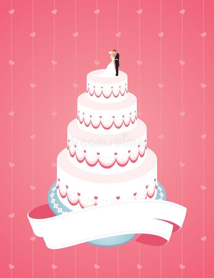 De Cake van het huwelijk vector illustratie