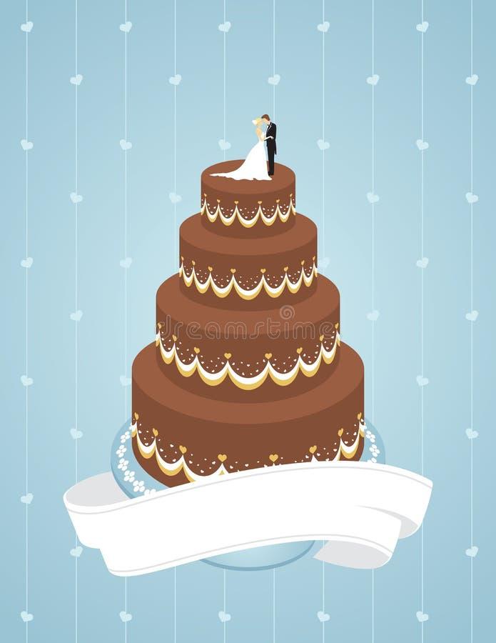De Cake van het huwelijk royalty-vrije illustratie
