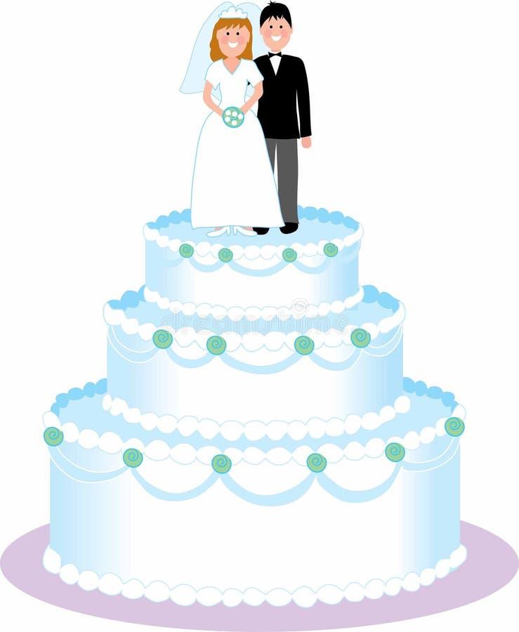 De Cake van het huwelijk stock illustratie
