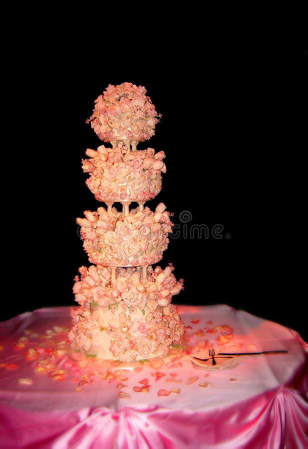 Download De cake van het huwelijk stock afbeelding. Afbeelding bestaande uit vrouwelijk - 295801