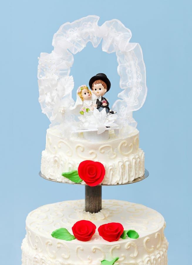 De cake van het huwelijk topper royalty-vrije stock fotografie