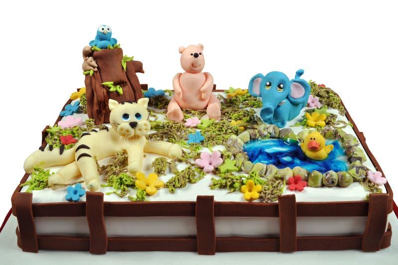 De cake van het kind stock afbeeldingen