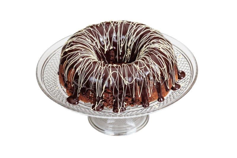 De Cake van het Mochapond met Ganache-het Berijpen stock afbeelding