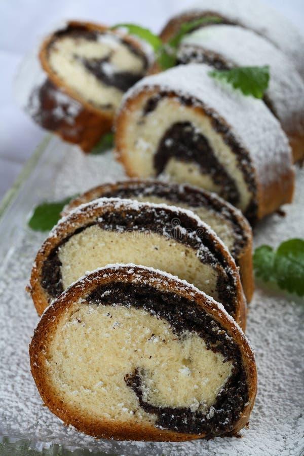 De cake van het papaverzaad stock foto