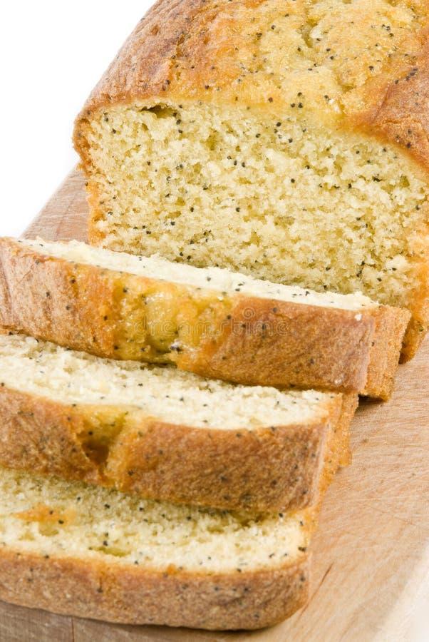 De Cake van het Zaad van de Papaver van de citroen stock foto's