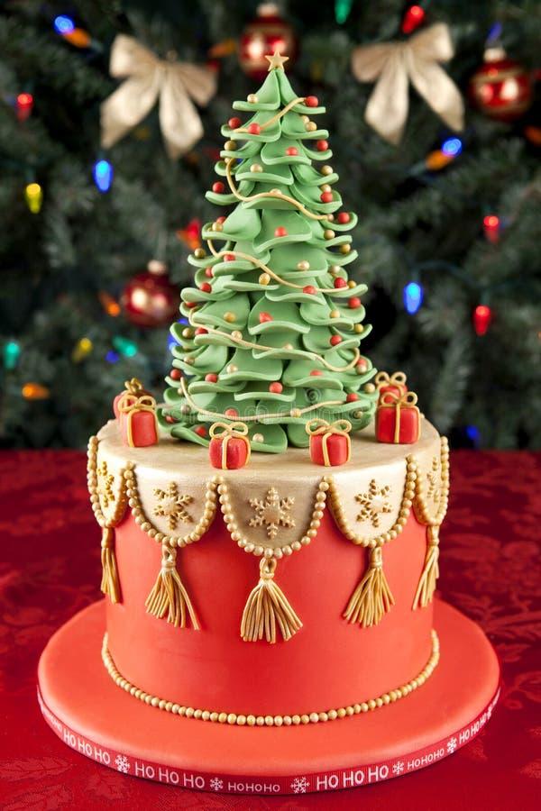 De cake van Kerstmis royalty-vrije stock afbeelding
