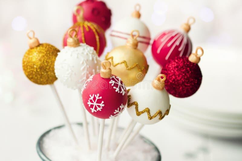 De cake van Kerstmis knalt stock afbeelding