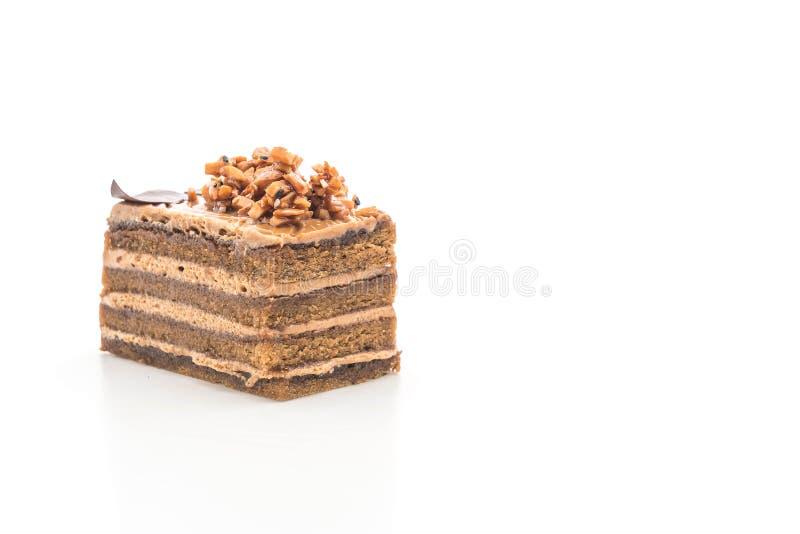 de cake van de koffietoffee royalty-vrije stock foto's