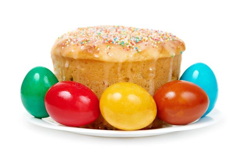 De cake van Pasen met eieren royalty-vrije stock foto's